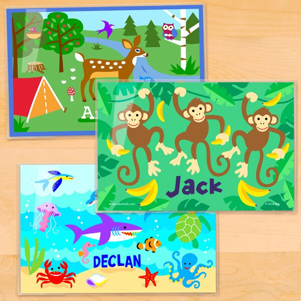 3 Piece Nature Personalized Placemat Set by Olive Kids