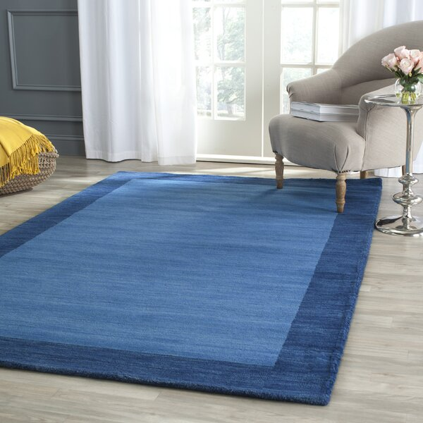 Southbury Hand-Loomed Blue Area Rug by Breakwater Bay