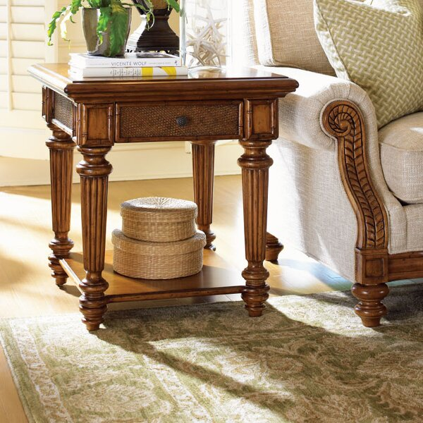Island Estate Boca End Table with Storage by Tommy Bahama Home