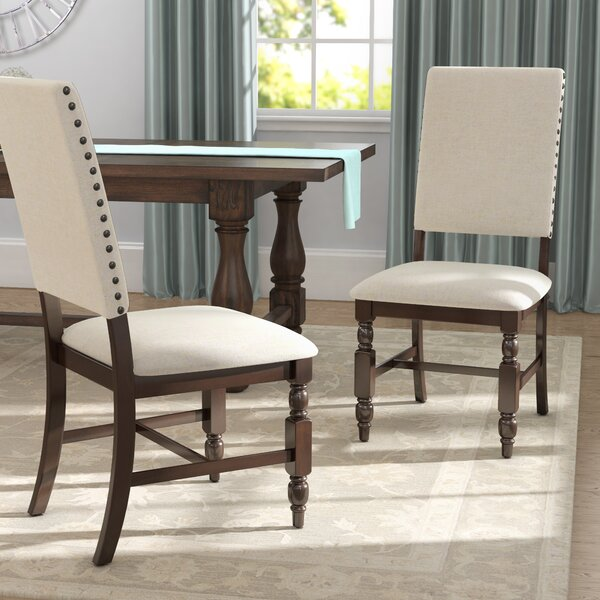 Yorkshire Upholstered Side Chair in Cherry (Set of 2) by Darby Home Co Darby Home Co