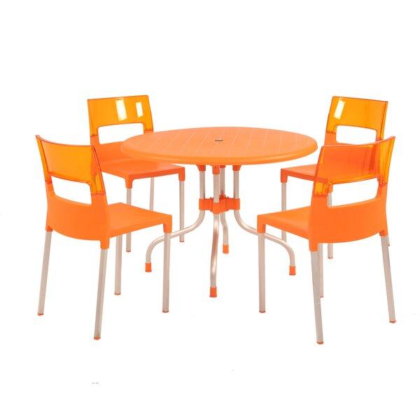 Sletten 5 Piece Dining Set by Brayden Studio