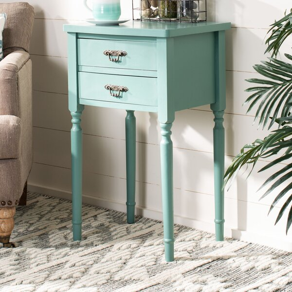 Joanna Solid Wood 2 Drawer End Table By Lark Manor