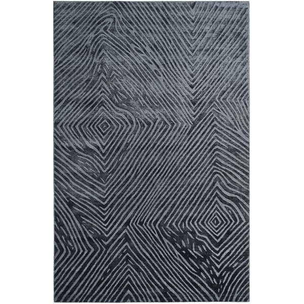 Moorhouse Hand-Woven Silk/Cotton Blue/Gray Area Rug by Wade Logan