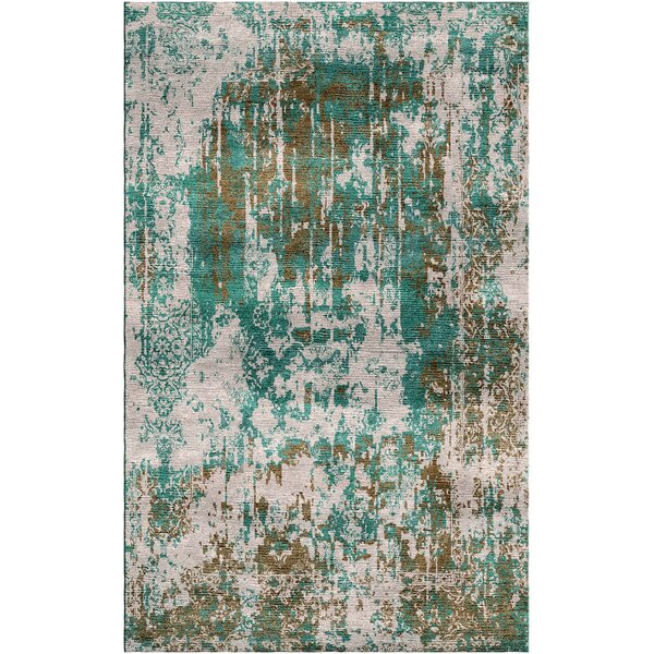 Aliza Handloom Green/Gray Area Rug by Bungalow Rose