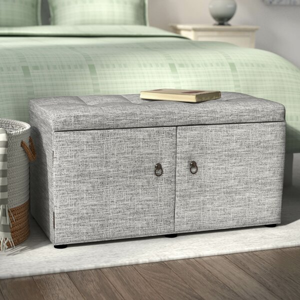 Gabriela Upholstered Shoe Storage Bench by Rebrilliant