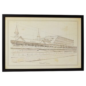 'Churchill Downs' Framed Painting Print on Canvas by Three Posts