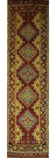 One-of-a-Kind Bovill Turkish Oriental Hand-Knotted Wool Red/Burgundy Area Rug by Canora Grey