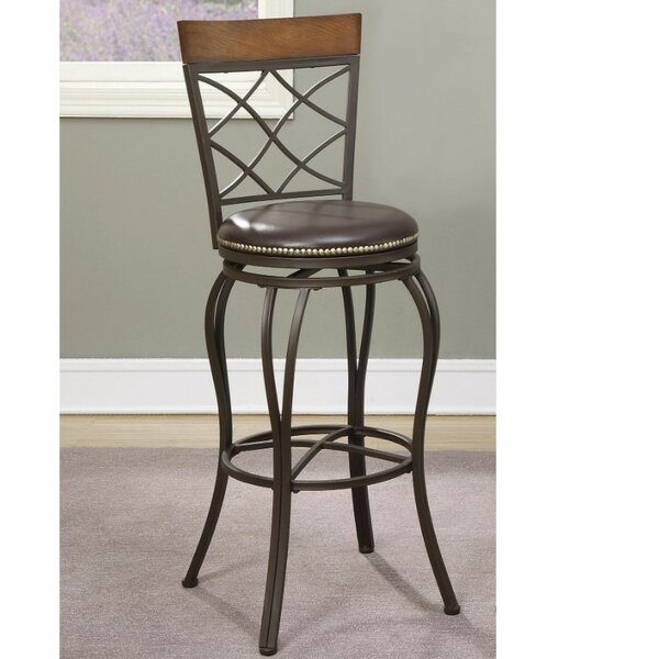 Whitlock Curvaceous 24 Swivel Bar Stool (Set of 2) by Millwood Pines