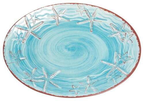 Starfish Melamine Platter by Galleyware Company