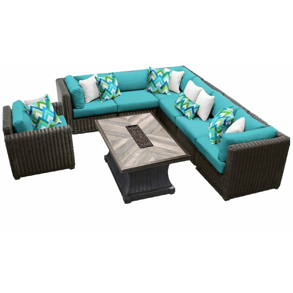 Fairfield 8 Piece Rattan Sofa Seating Group with Cushions by Sol 72 Outdoor