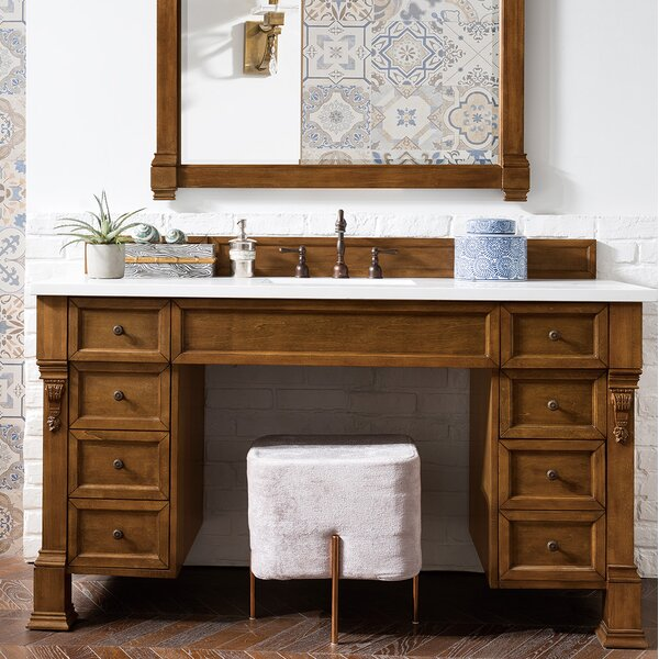 Bedrock 60 Single Country Oak Bathroom Vanity Set by Darby Home Co