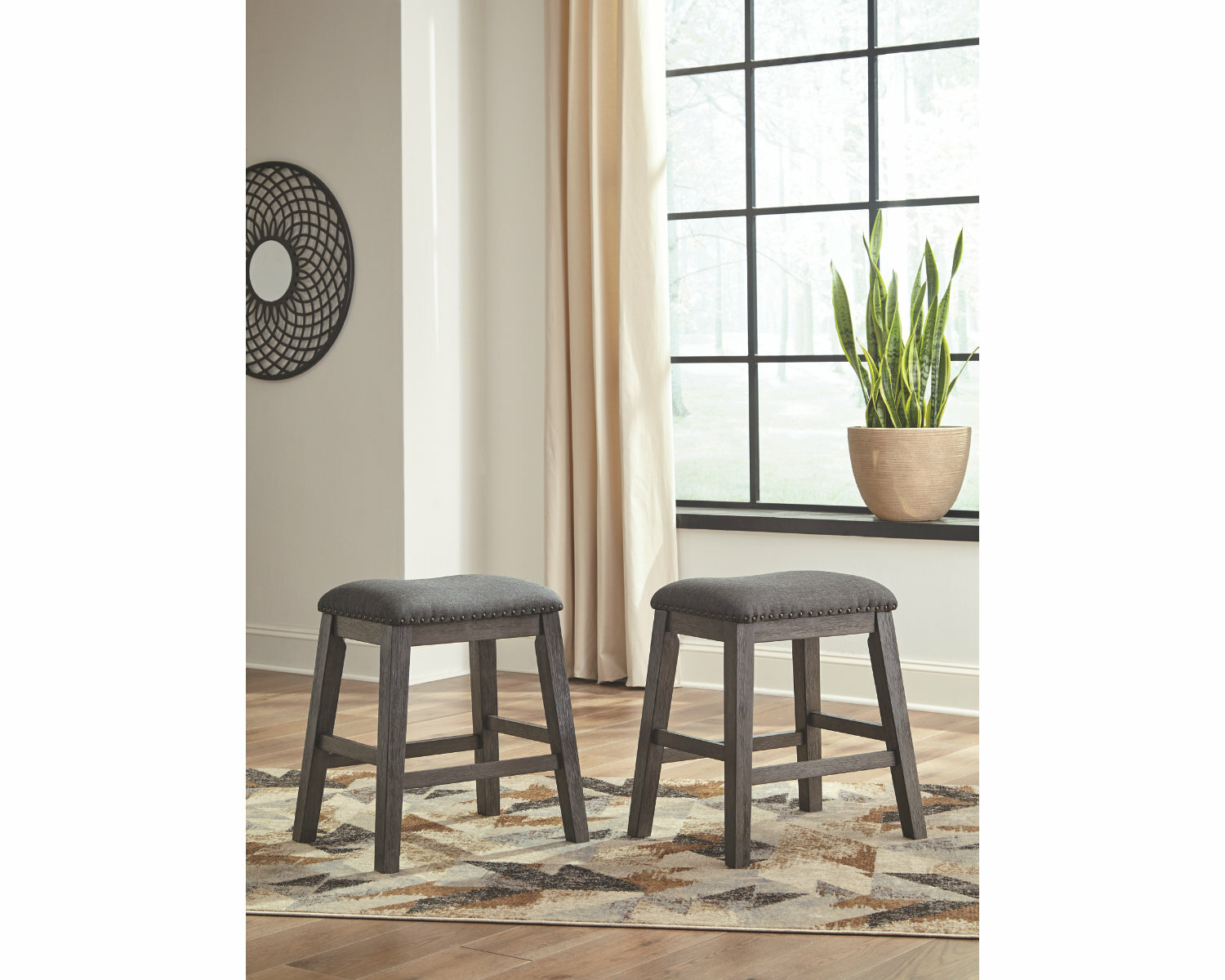 Incredible Cavallaro Backless Counter Height 24 Bar Stool Pabps2019 Chair Design Images Pabps2019Com