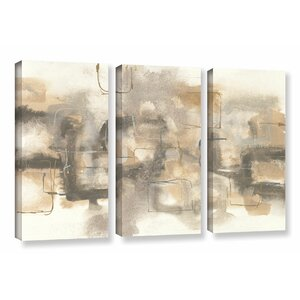 Platinum Neutrals I 3 Piece Painting Print on Wrapped Canvas Set by Latitude Run