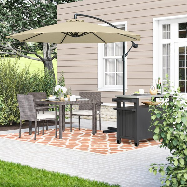 Raymundo 10.5' Cantilever Umbrella By Charlton Home by Charlton Home Today Only Sale