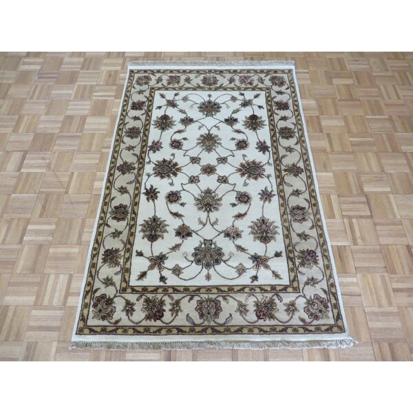 One-of-a-Kind Padro Hand-Knotted Wool Ivory Area Rug by Bloomsbury Market