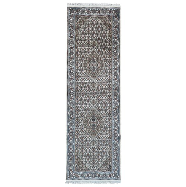 One-of-a-Kind Joanna Oriental Hand-Knotted Beige/Green Area Rug by Isabelline