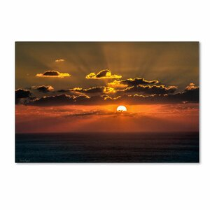 Mediterranean Sunset by David Ayash Photographic Print on Wrapped Canvas by Trademark Fine Art