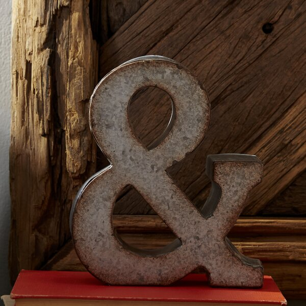 7 Galvanized Metal Ampersand by Laurel Foundry Modern Farmhouse