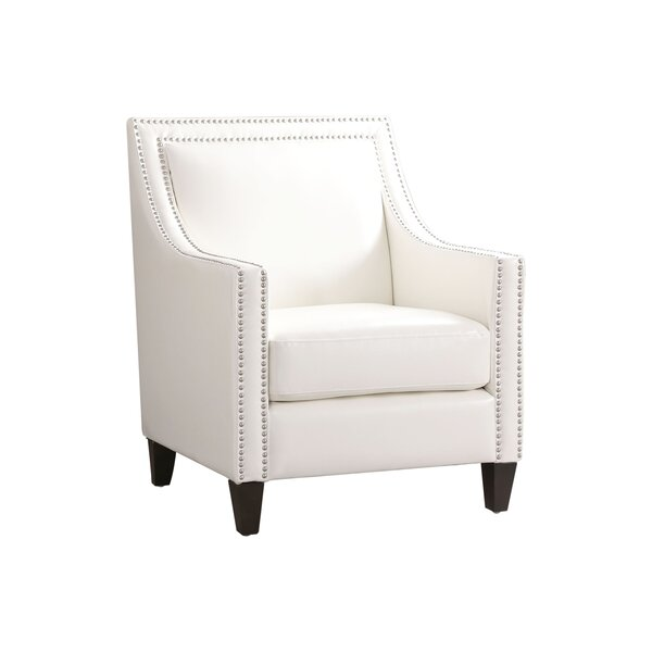 Stahlman Faux Leather Armchair by Charlton Home