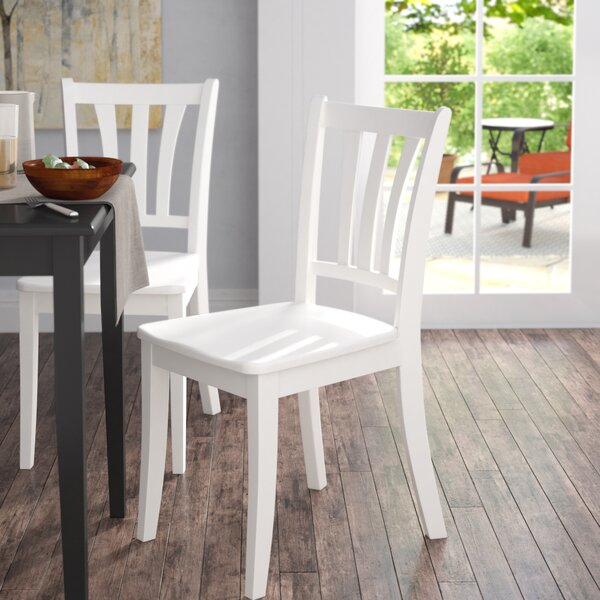 Liggett Modern Solid Wood Dining Chair (Set of 2) by Three Posts