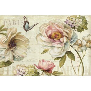 Marche de Fleurs IV Graphic Art on Wrapped Canvas by Lark Manor