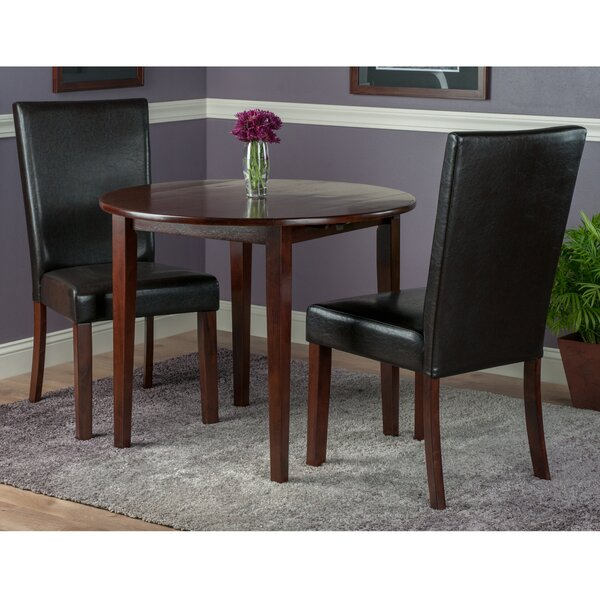 Kendall Traditional 3 Piece Drop Leaf Dining Set by Alcott Hill