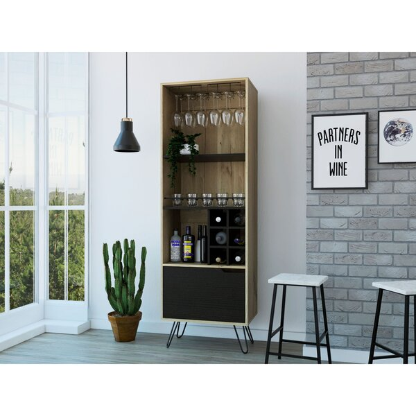 Caylee Aster High Bar With Wine Storage By Union Rustic