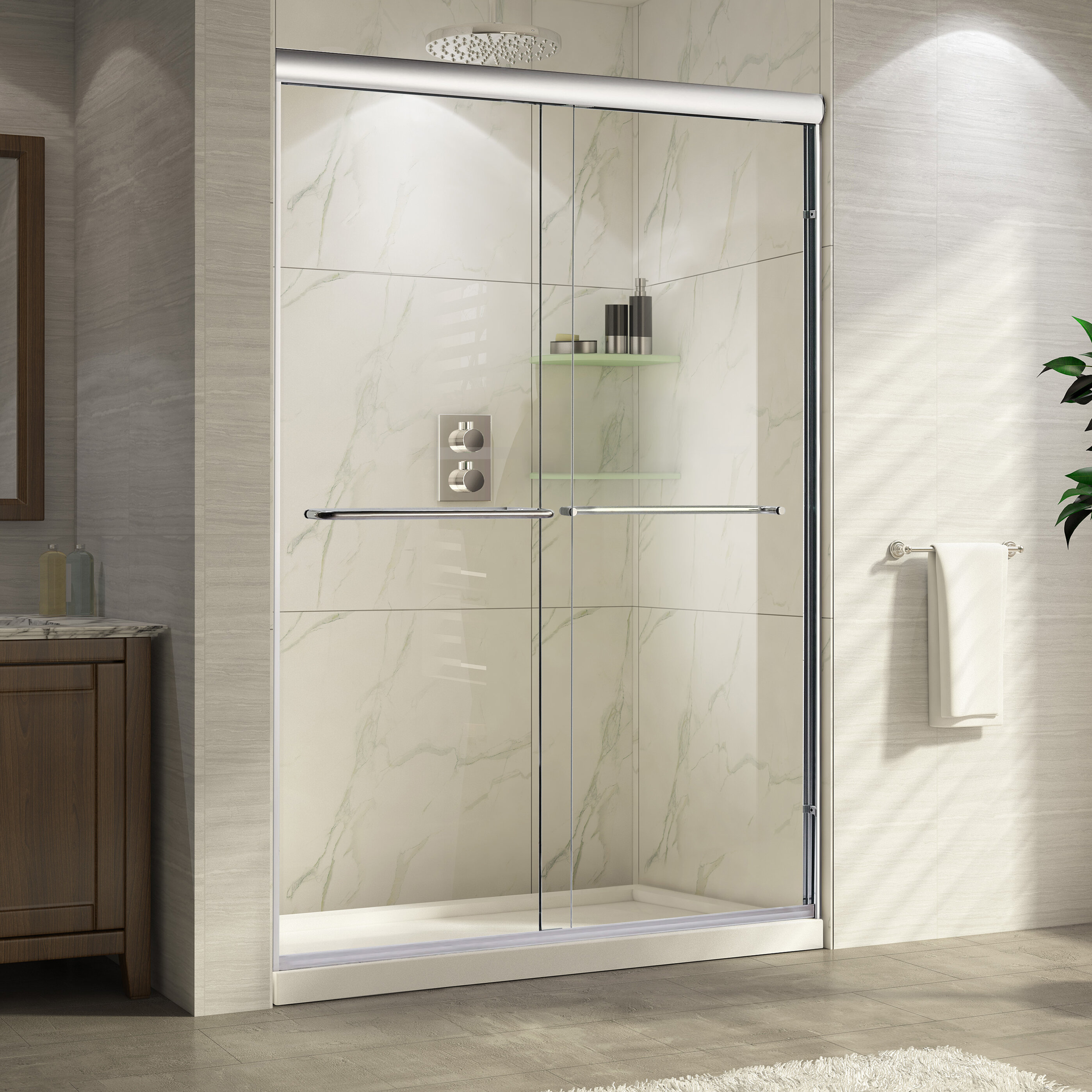 Wet Republic Catalina 60 X 76 Double Sliding Shower Door Wayfair