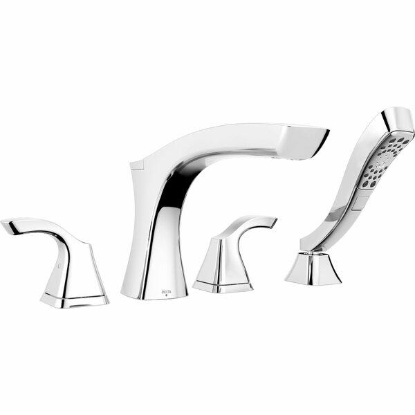 Teslaâ® Double Handle Deck Mounted Roman Tub Faucet Trim With Handshower By Delta