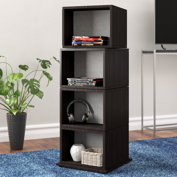 Rotating Multimedia Cube Storage Tower by Zipcode Design