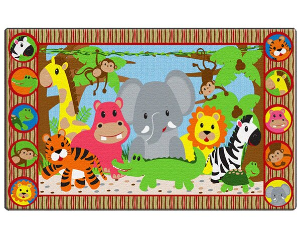 Cutie Jungle Kids Rug by Flagship Carpets