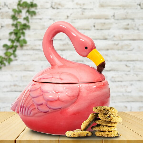 Flamingo Cookie Jar by Bay Isle Home
