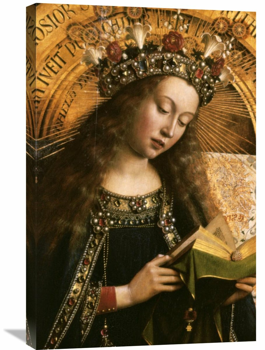 The Virgin Ghent Altarpiece By Jan Van Eyck Painting Print On Wrapped Canvas