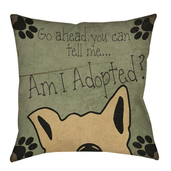 Am I Adopted Printed Throw Pillow by Manual Woodworkers & Weavers