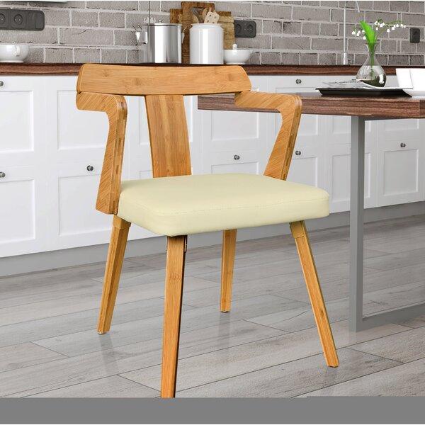 Westervelt Bamboo Upholstered Dining Chair by Brayden Studio