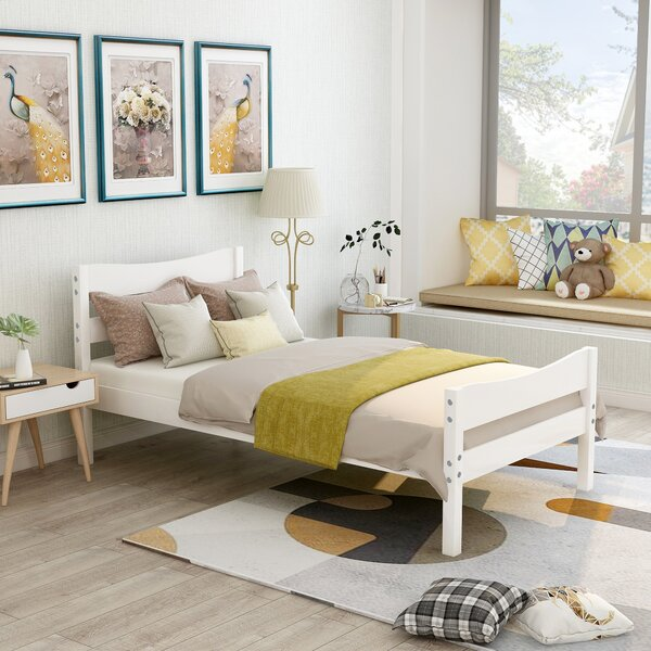 Twin Storage Platform Bed by August Grove