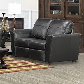 Delta Italian Standard Leather Loveseat