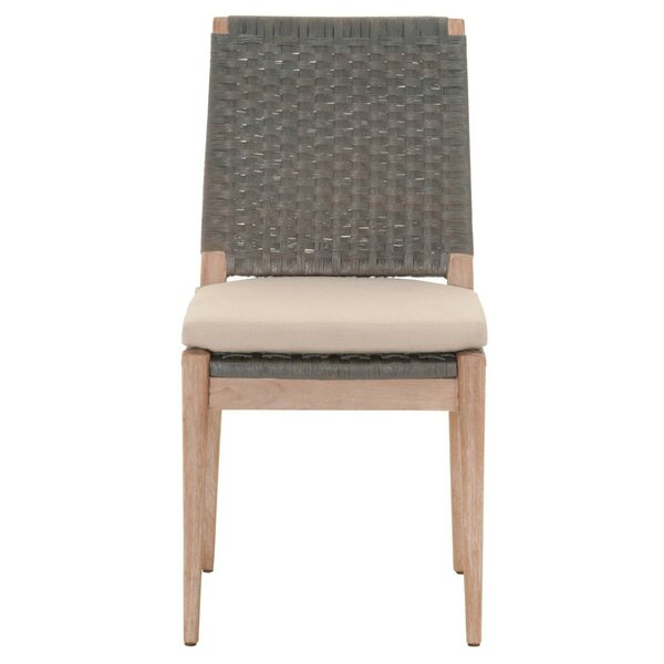 Gallegos Wooden Armless Upholstered Dining Chair (Set of 2) by Bayou Breeze