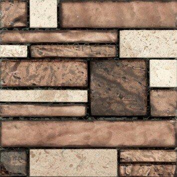 Vista 12 x 12 Glass Stone Blend Pattern Mosaic Tile in Sight by Emser Tile