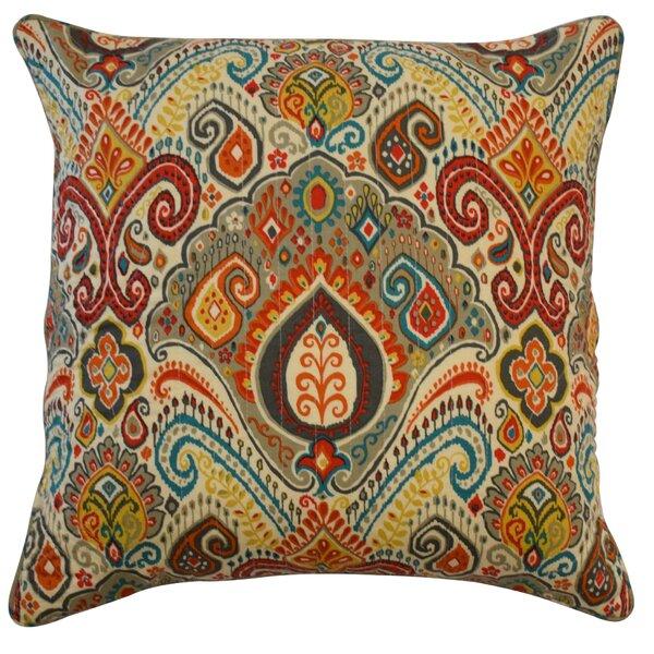 Boho Passage Damask Cotton Throw Pillow by Waverly