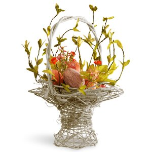 Easter Basket Flower Arrangements with Egg