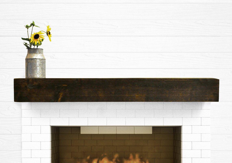 Dogberry collections modern farmhouse fireplace mantel shelf reviews wayfair - Beneficial contemporary fireplace mantel shelves ...