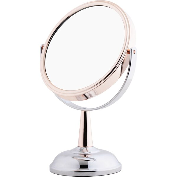 Eslick Mixed Metal Midi Mirror Makeup/Shaving Mirror by Rebrilliant