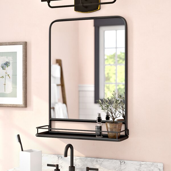 Cadbury Metal Accent Mirror with Shelf by Gracie Oaks
