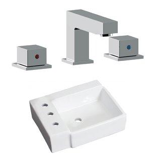 Online Reviews Ceramic 16.25 Bathroom Sink with Faucet ByRoyal Purple Bath Kitchen