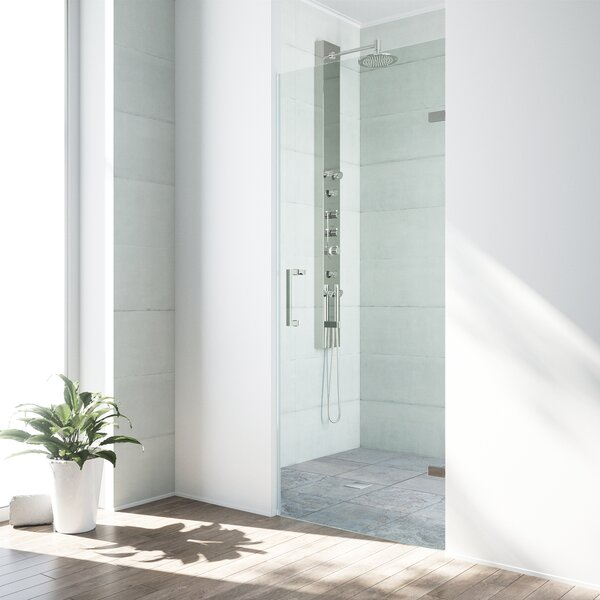SoHo 26 x 70.625 Hinged Adjustable Frameless Showe