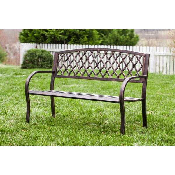 Geoffrey Multi-Diamonds Metal Garden Bench by Longshore Tides