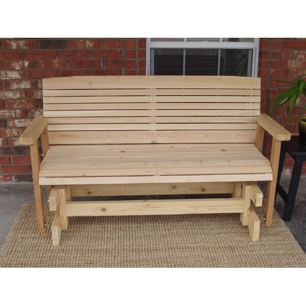 Kathleen Cedar Colonial Style Glider Bench by Loon Peak