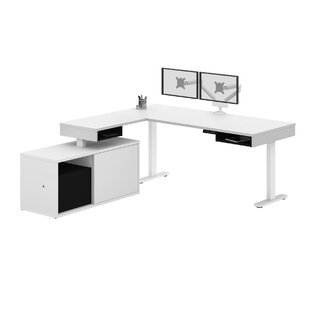 Hann Height Adjustable L-Shape Standing Desk