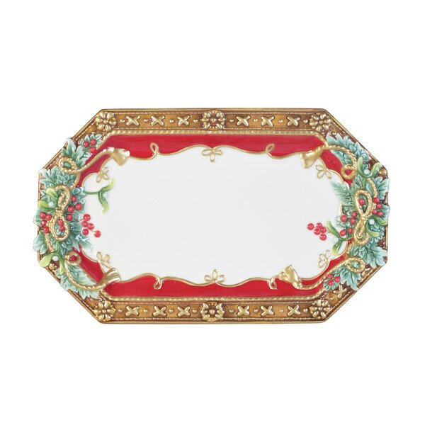 Yuletide Holiday Elongated Platter by Fitz and Flo